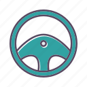 controller, play, steering wheel icon