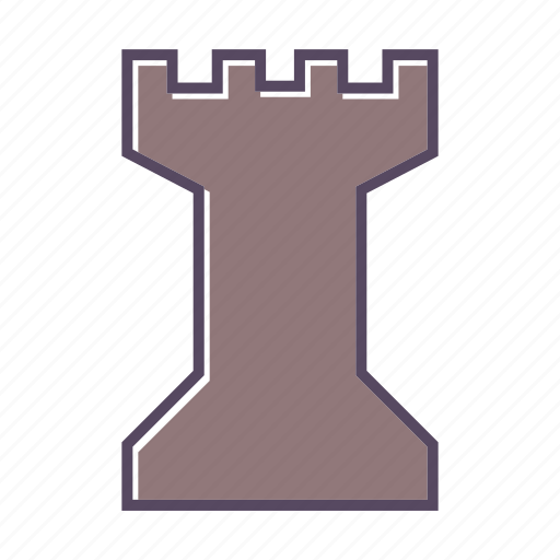 castle, chess, game icon