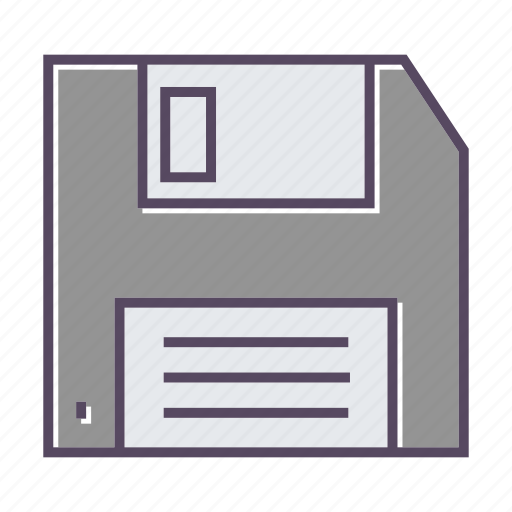 data, diskette, floppy, information, storage icon