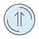arrow, file, top, up, upload icon
