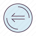 arrow, direction, left, previous icon