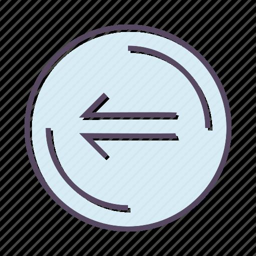arrow, direction, left, previous icon