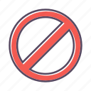 forbidden, stop, warning icon