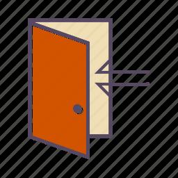 door, enter, entrance, house icon