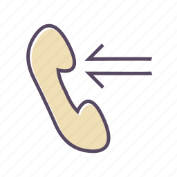 call, communication, contact, incoming, mobile icon