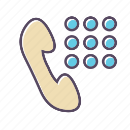 call, phone number icon