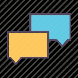 bubble, bubbles, chat, sms, speech icon