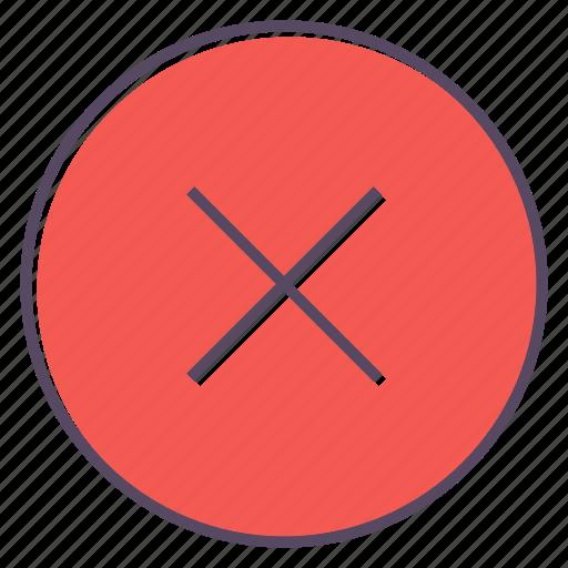 cancel, delete, exit, no, stop icon