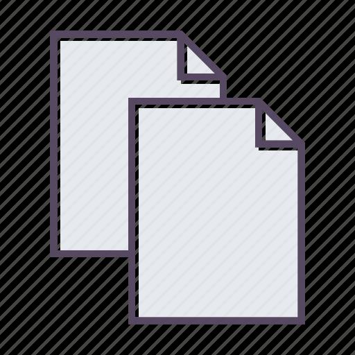 copy, duplicate, files, paste icon