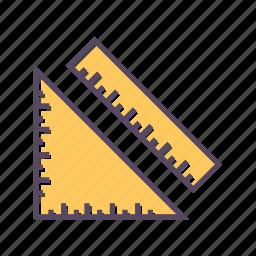 geometry, measure, ruler, tool, tools, triangle icon