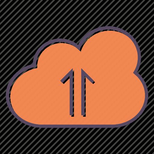 arrow, cloud, database, storage, up, upload icon