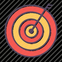 center, goal, shoot icon