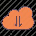 download, arrow, cloud, down