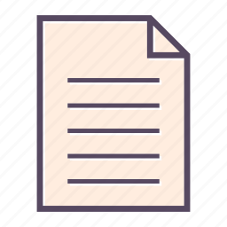 data, file, page, paper icon