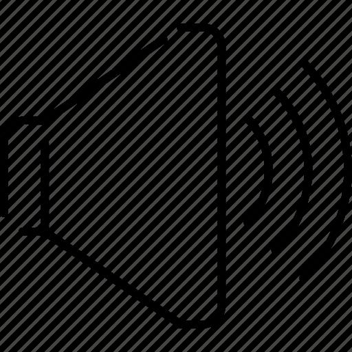 audio, music, sound, speaker, volume, volume increase, volume up icon