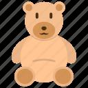 teddy bear, toy, stuffed, cute icon