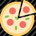 fast food, italian, italian food, pizza, restaurant icon