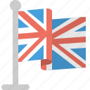 country, flag, kingdom, united, world icon