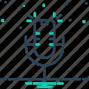 microphone, mike, performance, resonator, speaker, vintage, voice icon