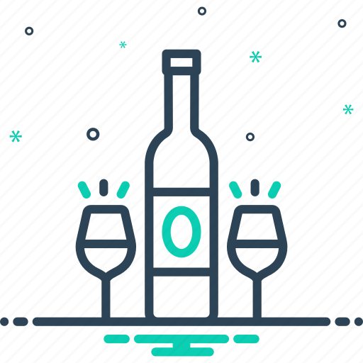 bottle, drink, libation, liqueur, party, rum, wine icon