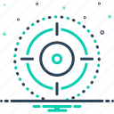 bullseye, extent, range, realm, scope, target, zone icon