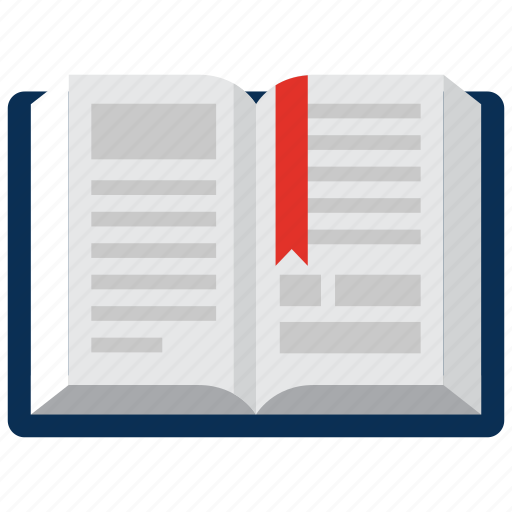 book, bookmark, education, library icon