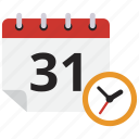 calendar, clock, schedule, time icon