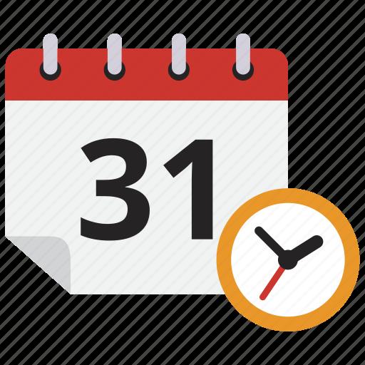 calendar, clock, schedule, time icon