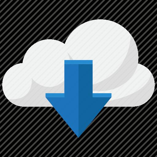 cloud, computing, download, storage icon