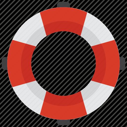 lifebuoy, lifeguard, lifesaver, sea icon