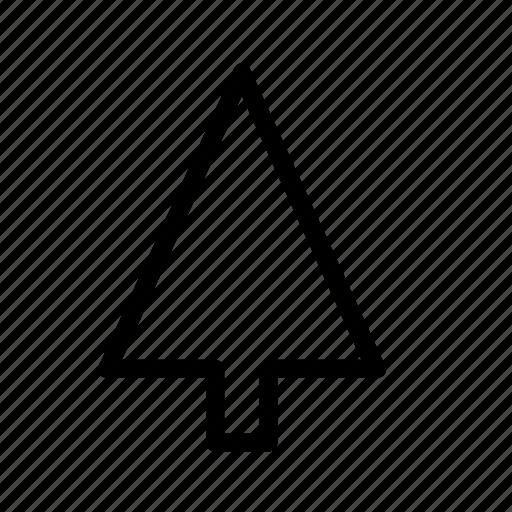 arrow, christmas, fir, forest, tree icon