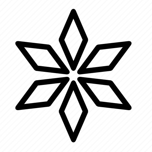 abstract, christmas, shape, star icon