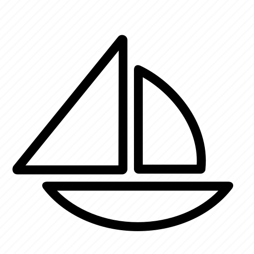 boat, sailboat, sailing, sea, ship, transport icon