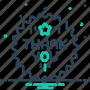 appreciate, celebration, gratitude, thankyou icon