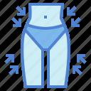reduce, slim, thin, waist icon