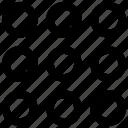 grid, matrix, polka icon, • dots icon