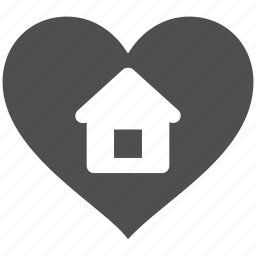 favourite, heart, home, house, like, love, real icon