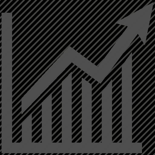 ascendant, ascending, business, graphic, marketing, performance icon