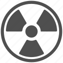 nuclear, radiation, radioactive, radioactivity icon
