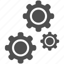cog, gear, gears, options, repair, settings, tool icon