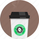barista, circle, coffee, cup, smoke, take away, tea icon