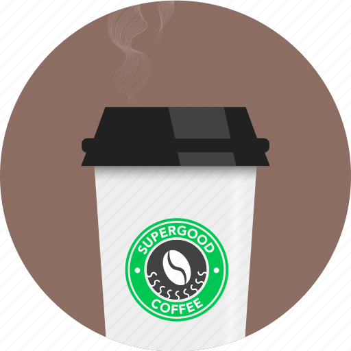 barista, circle, coffee, cup, smoke, take away, tea icon