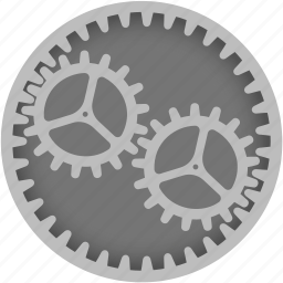 circle, cog, customize, gear, option, preferences, settings icon