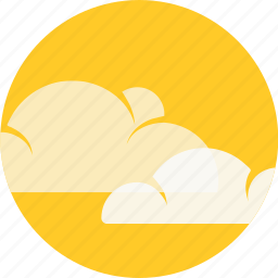 beach, circle, clouds, forecast, hot, sun, weather icon