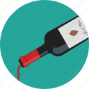 alcohol, bottle, champagne, circle, glass, resturant, wine icon