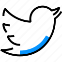 bird, media, network, social, sparrow, tweet, twitter