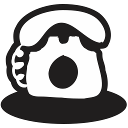 audio, communication, doodles, handdrawn, media, network, telephone icon