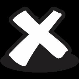 close, cross, handrawn, logout, remove, trash icon