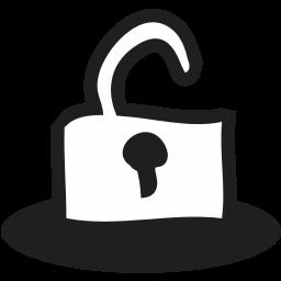 close, delete, folder, handrawn, lock, open, remove icon