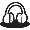 creative, handrawn, headphone, mic, multimedia, music, shape icon